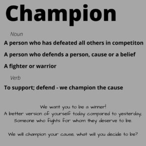 Definition of 'Champion'